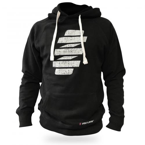 VOGTLAND fekete kapucnis pulóver