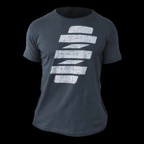VOGTLAND sötét szürke prémium minőségű férfi póló